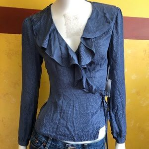 1. State Wrap Blouse with Ruffle